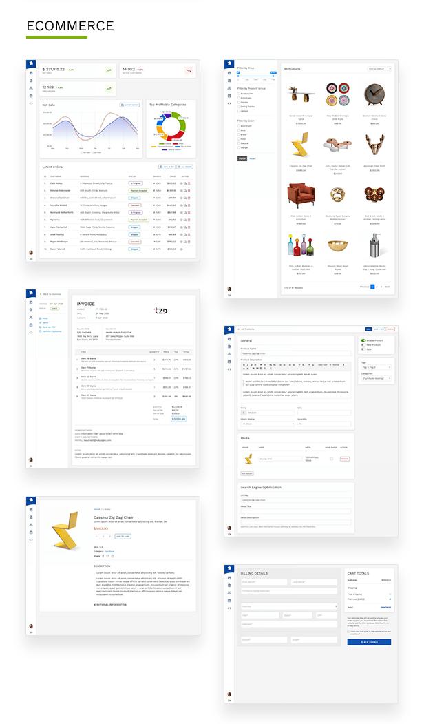 Aglo Admin components ecommerce